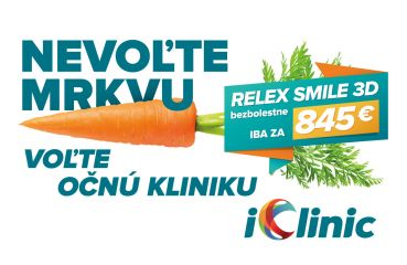 Chcete mať dobrý zrak? Iba jesť mrkvu nestačí. Voľte namiesto mrkvy iClinic!